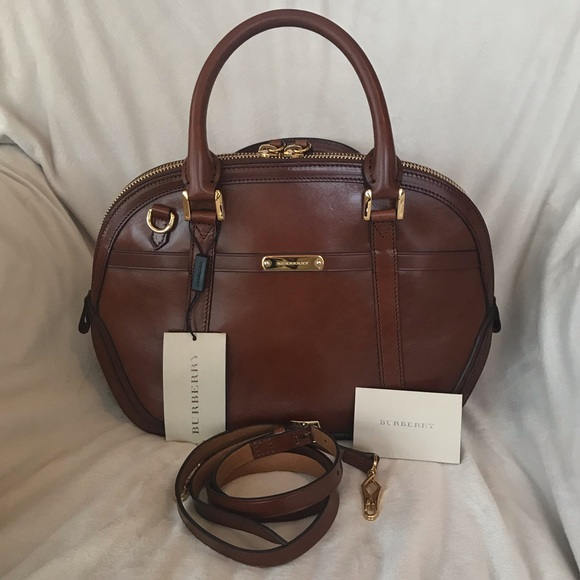 0ae1383aeaed Burberry Bridle Leather Small Orchard Bowling Bag